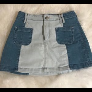 Two tone hollister jean skirt
